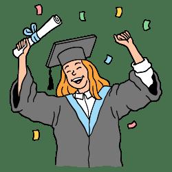 Graduation illustration - Free transparent PNG, SVG. No Sign up needed.