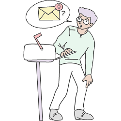 Empty State E Mail Zero Inbox 01 illustration - Free transparent PNG, SVG. No Sign up needed.
