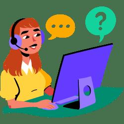 Customer Service Call Center illustration - Free transparent PNG, SVG. No Sign up needed.