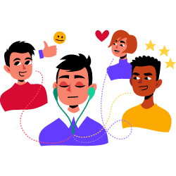 Listening To Feedback From Users Customers illustration - Free transparent PNG, SVG. No Sign up needed.