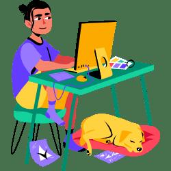 Designer Working illustration - Free transparent PNG, SVG. No Sign up needed.
