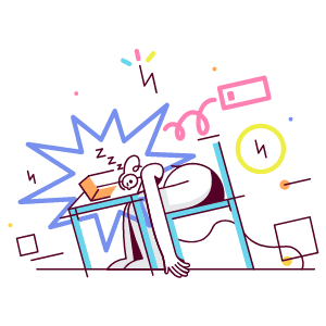 Overworked Employee illustration - Free transparent PNG, SVG. No Sign up needed.