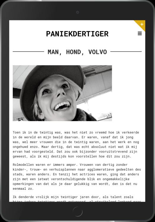 Paniekdertiger op iPad