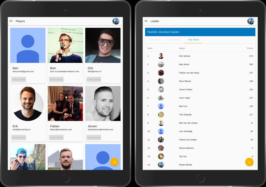 Rankify op iPad