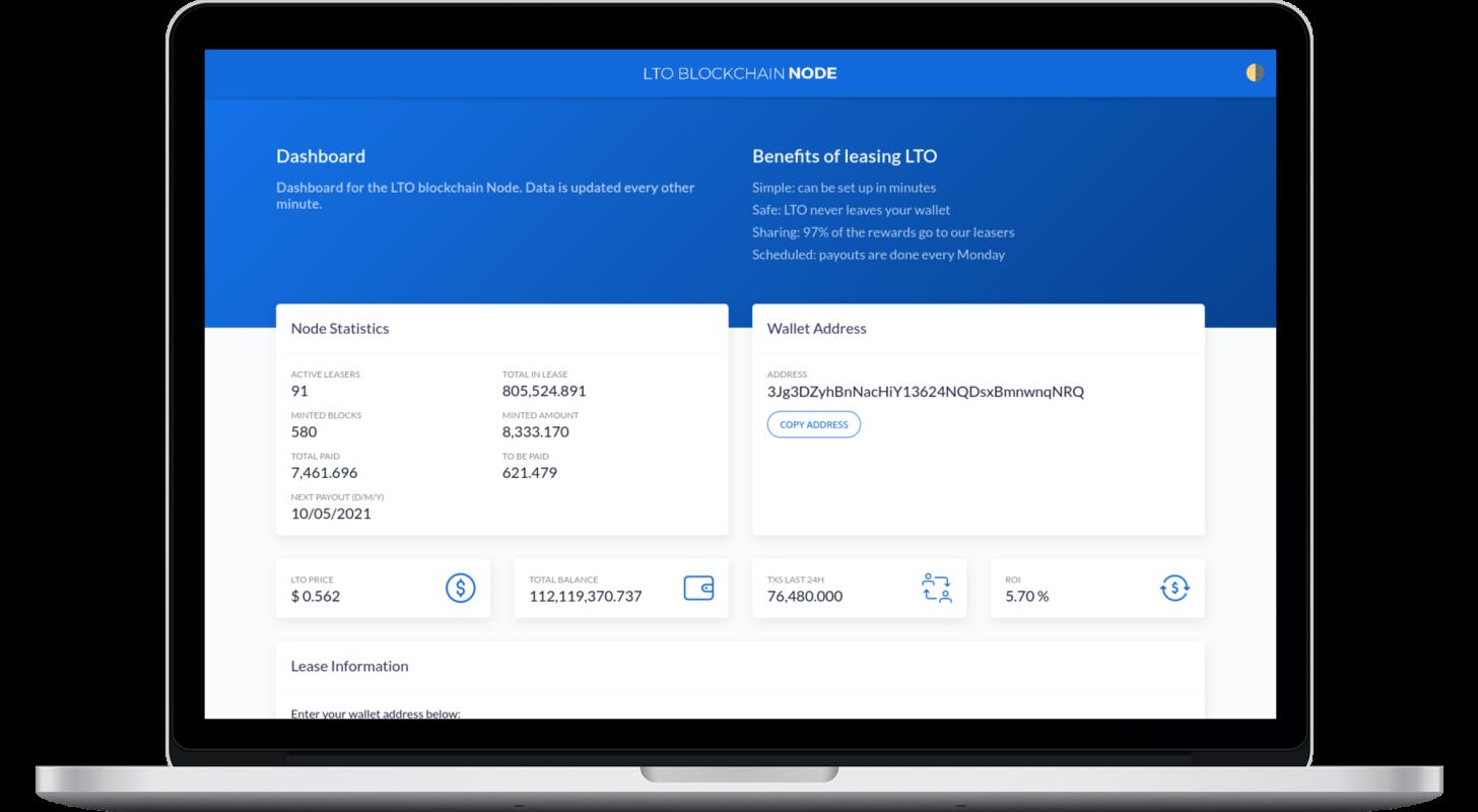 LTO Blockchain Node op desktop