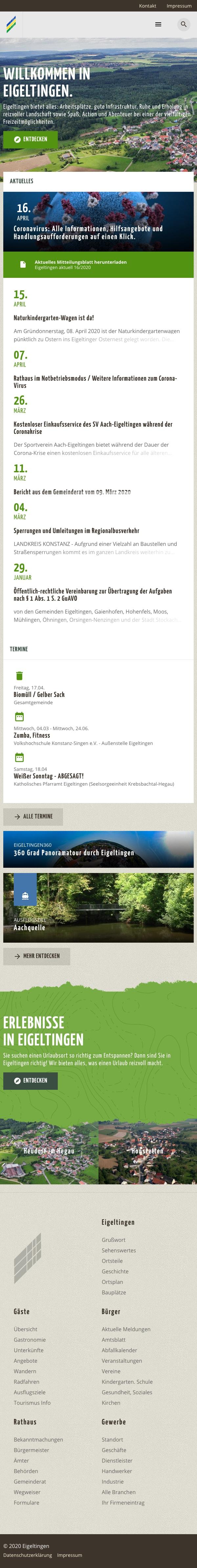 Screenshot Eigeltingen