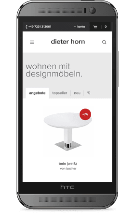 Screenshot dieter-horn.de auf einem HTC One M8