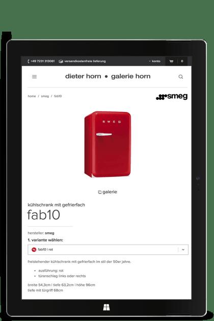 Screenshot dieter-horn.de auf einem Microsoft Surface Pro 3