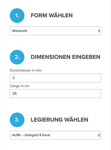 Screenshot Metallrechnerformular GYRBOARD – Wie entstand die Website mit Kundenportal www.gyr.ch? | web://contact