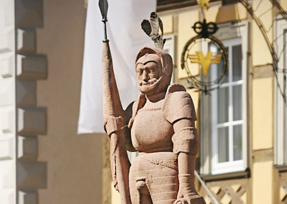 Ritterstatue in Bad Mergentheim