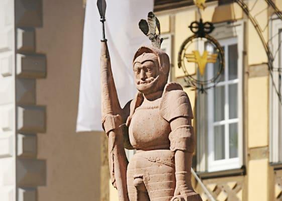 Ritterstatue in Bad Mergentheim
