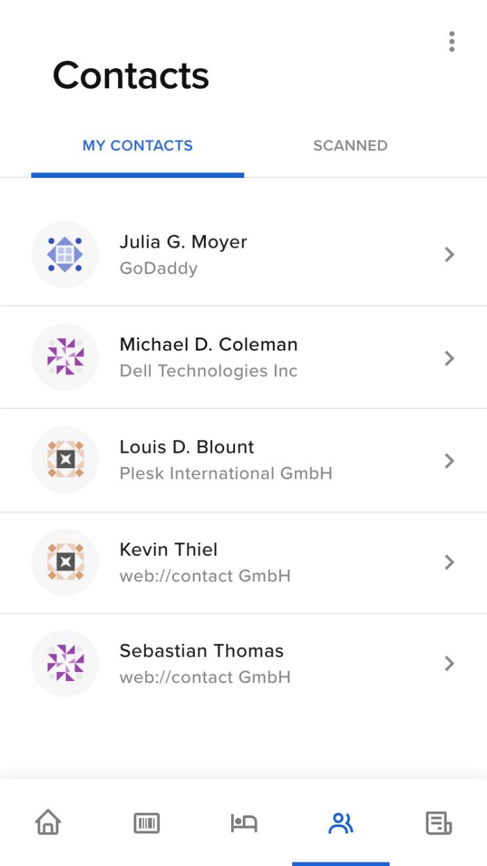 Screendesign CloudFest Teilnehmerbereich