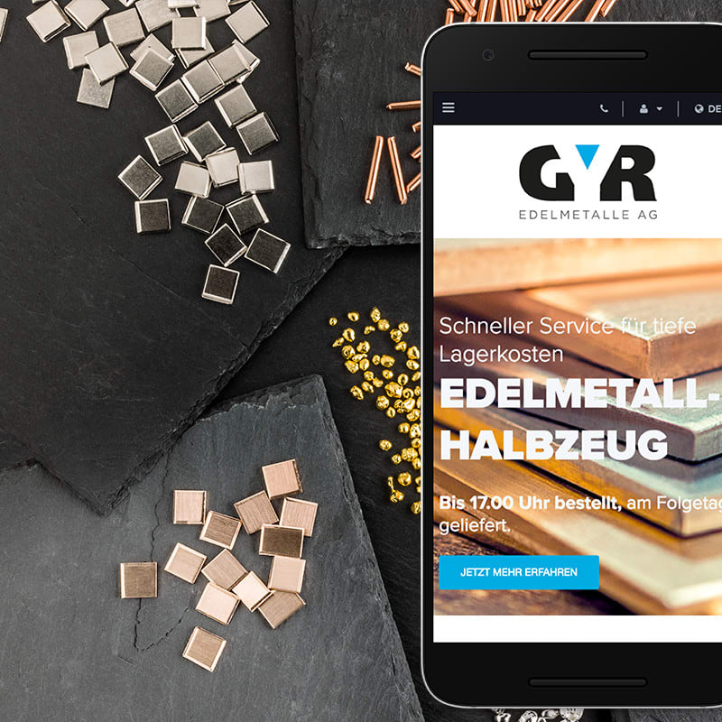 Website Redesign für Gyr Edelmetalle von web://contact