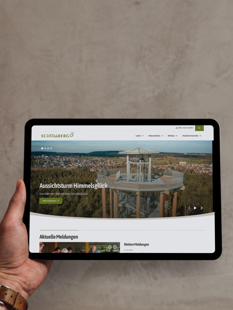 """Kommunal-Projekt """"Schömberg"""" von web://contact"""