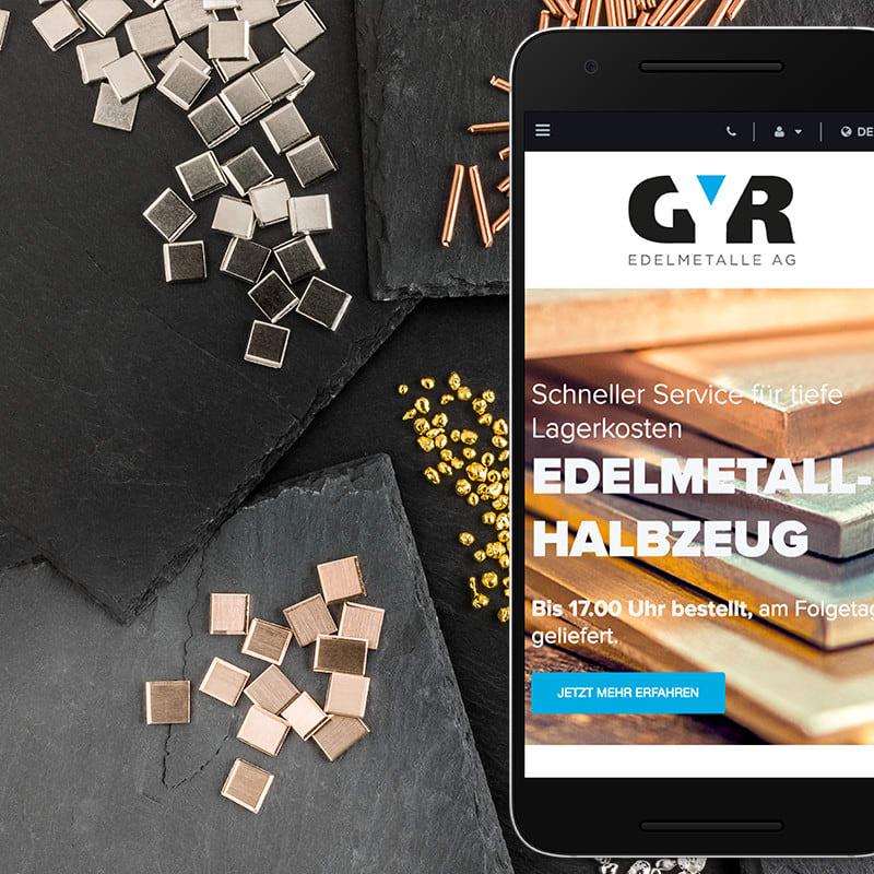 Website Redesign für Gyr Edelmetalle von web://contact