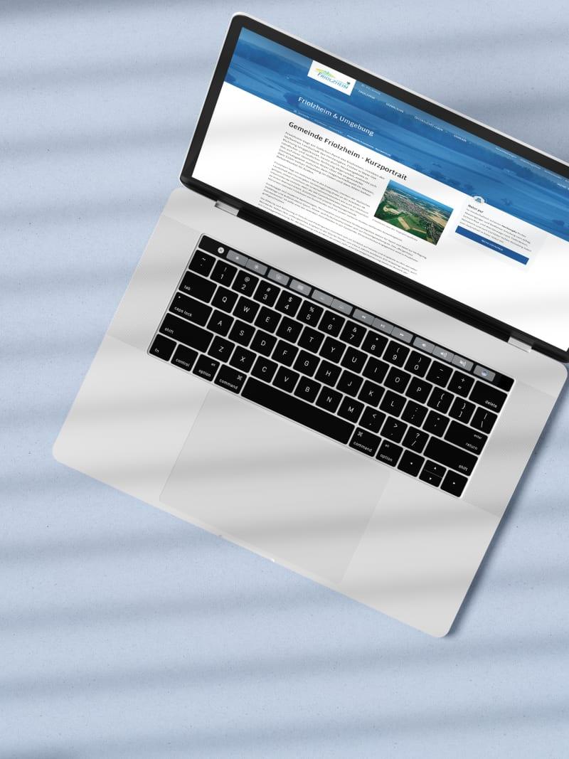 """Kommunal-Projekt """"Friolzheim"""" von web://contact"""