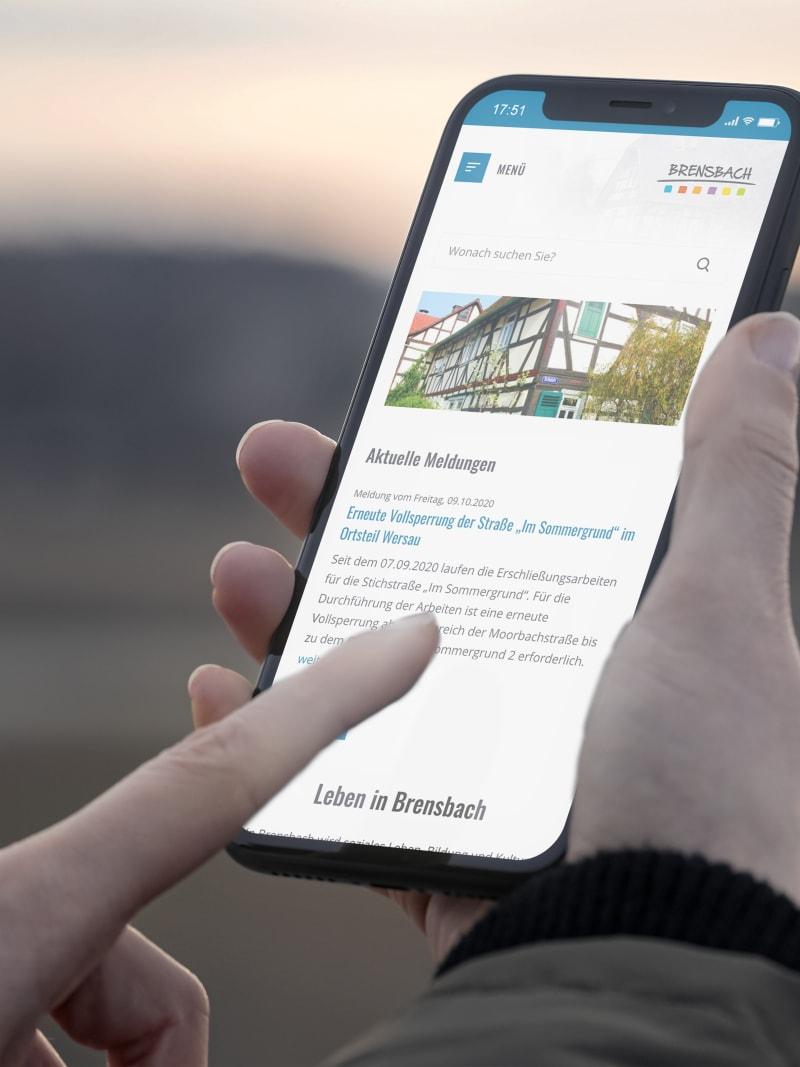 """Kommunal-Projekt """"Brensbach"""" von web://contact"""