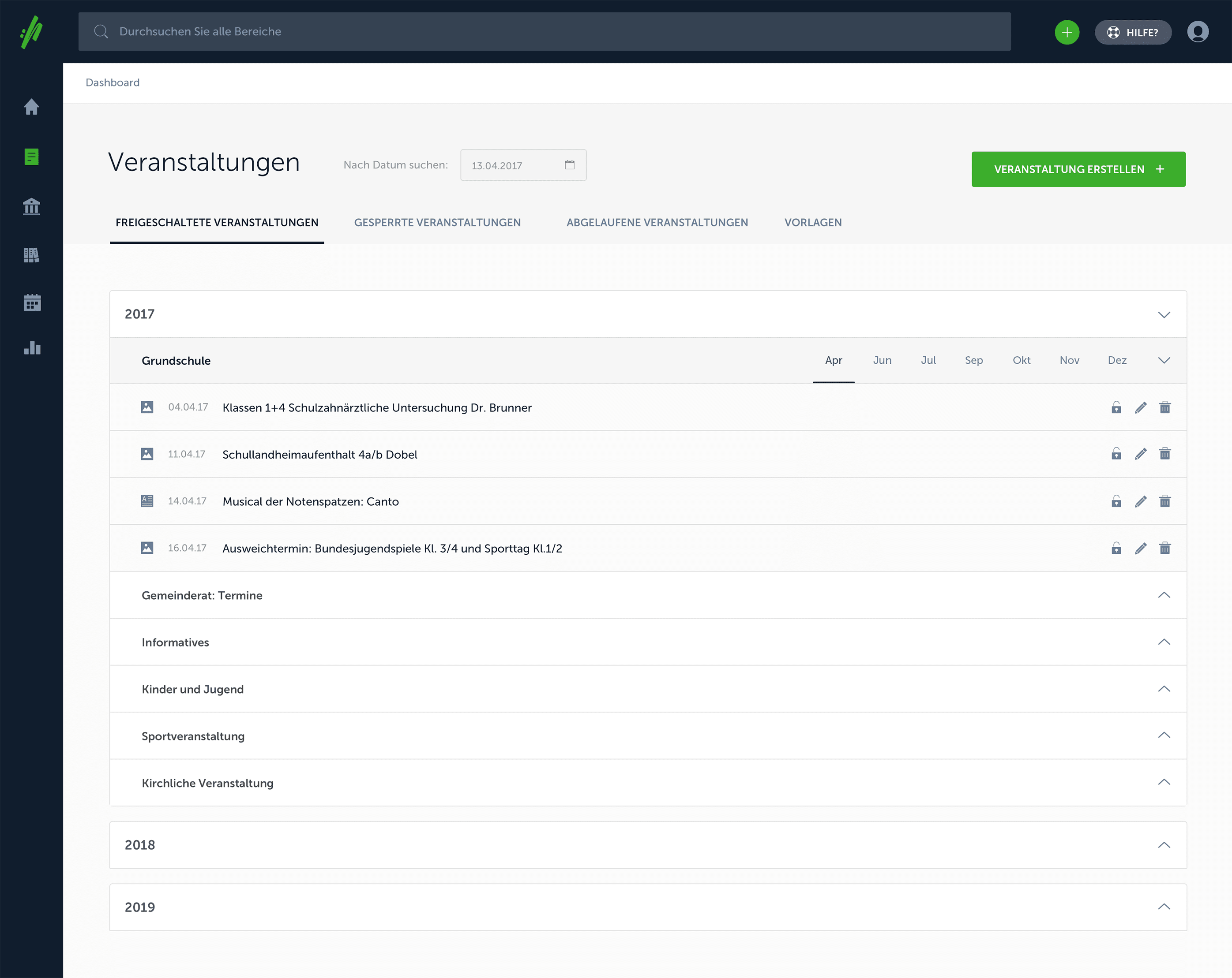 Screenshot Kommunen-CMS von web://contact