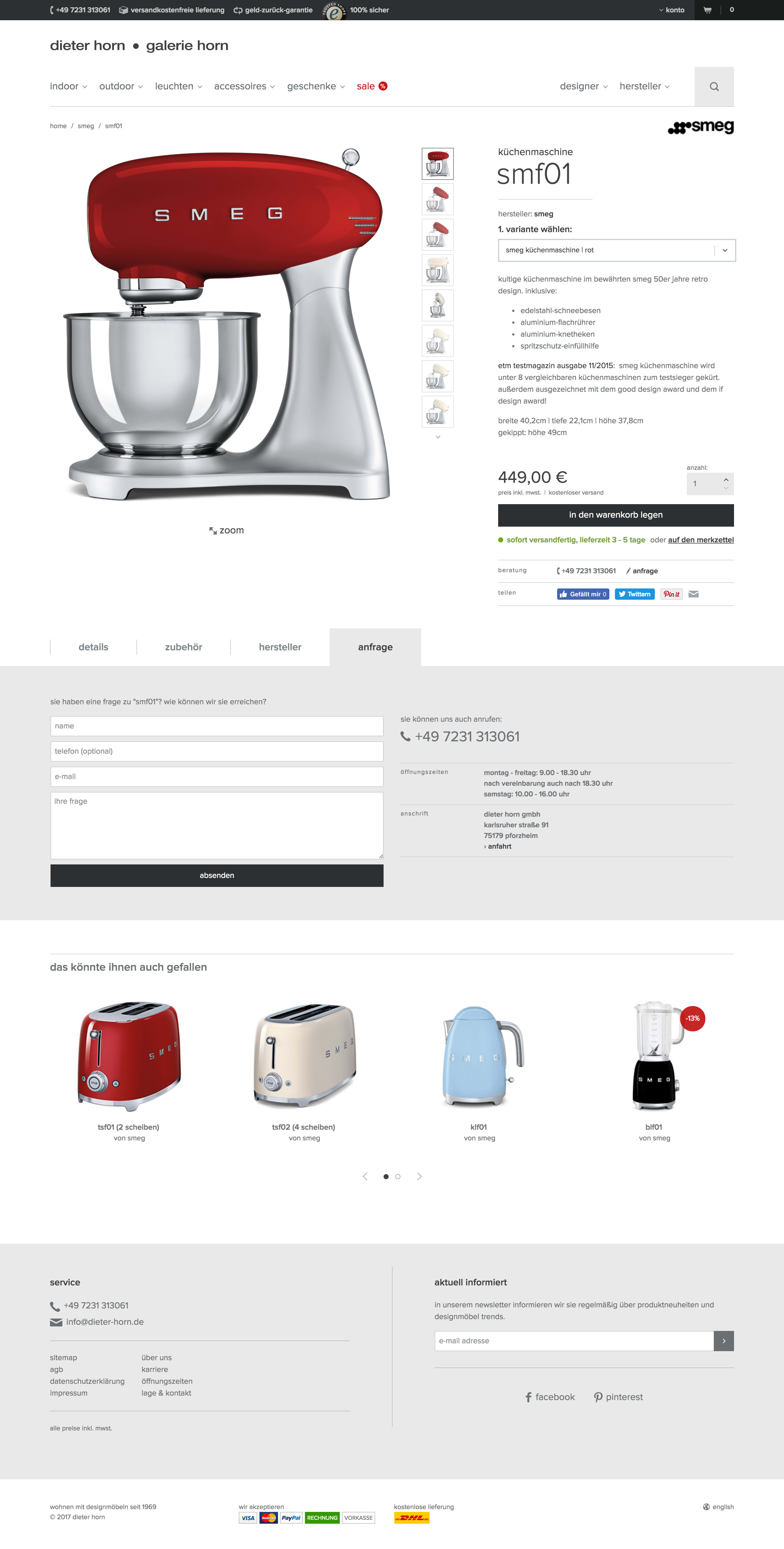 Screenshot Produktseite der Gyr Edelmetalle AG