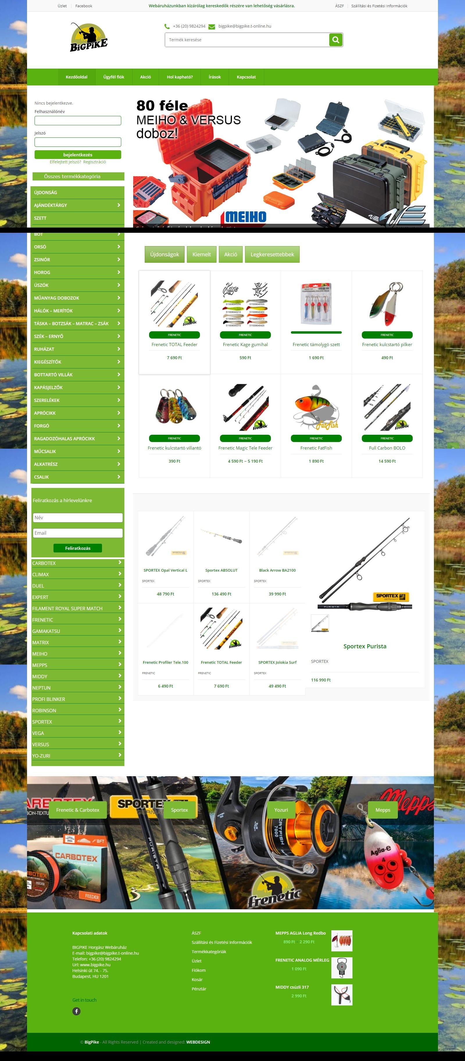 Bigpike Nagykereskedelmi Horgász Webáruház - Bigpike Nagykereskedelmi Horgász Webáruház