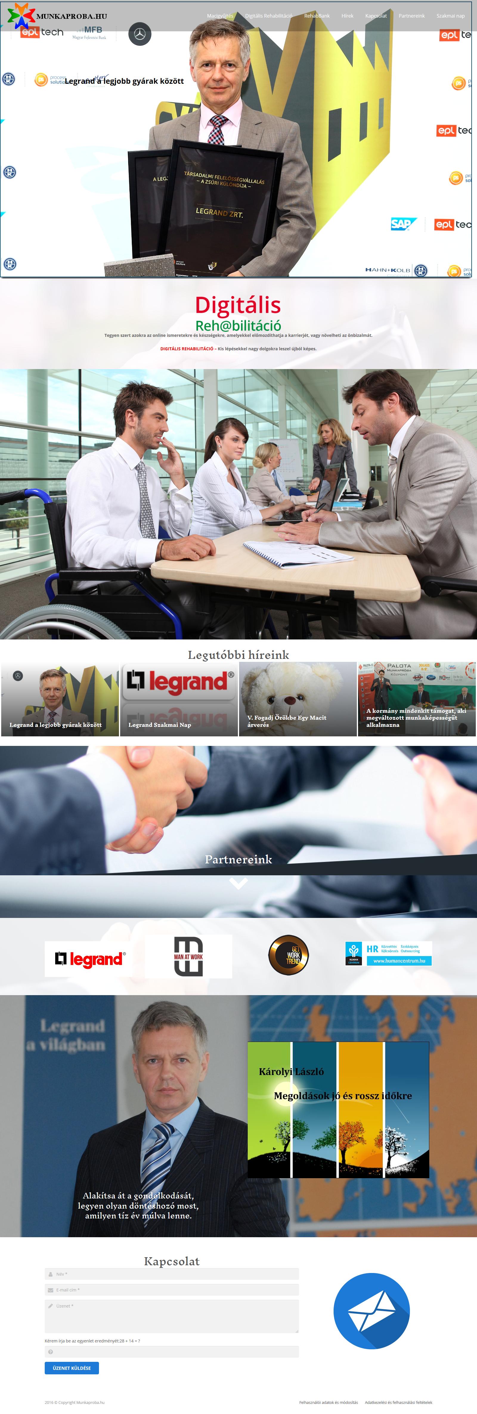 Munkaproba weboldala - Munkapróba
