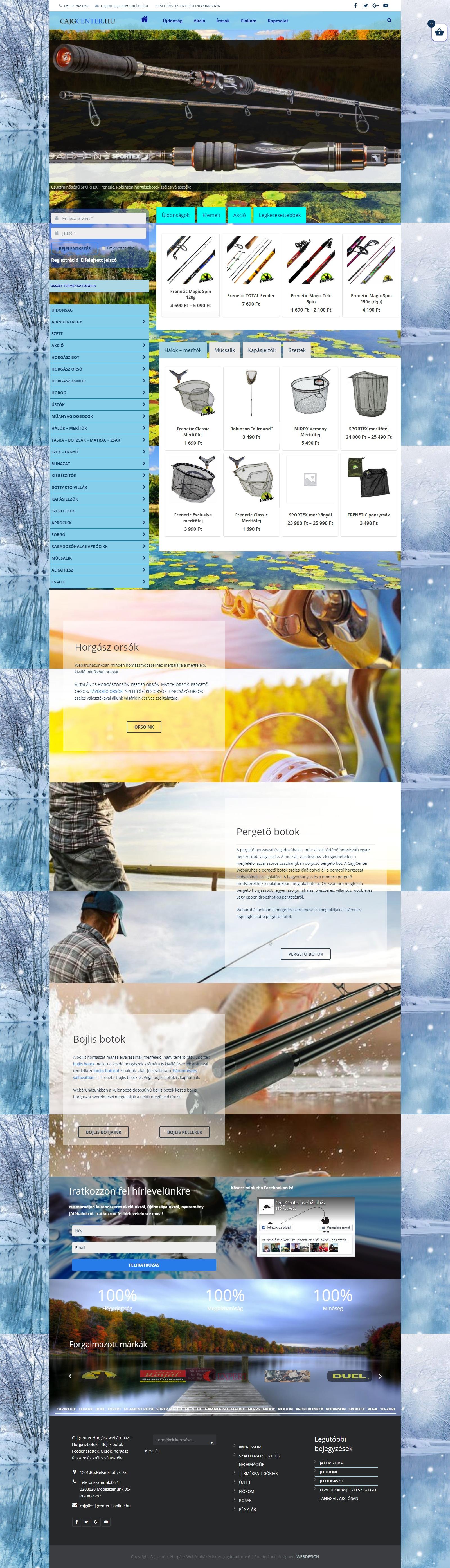 Cajgccenter horgász webáruház - Cajgcenter