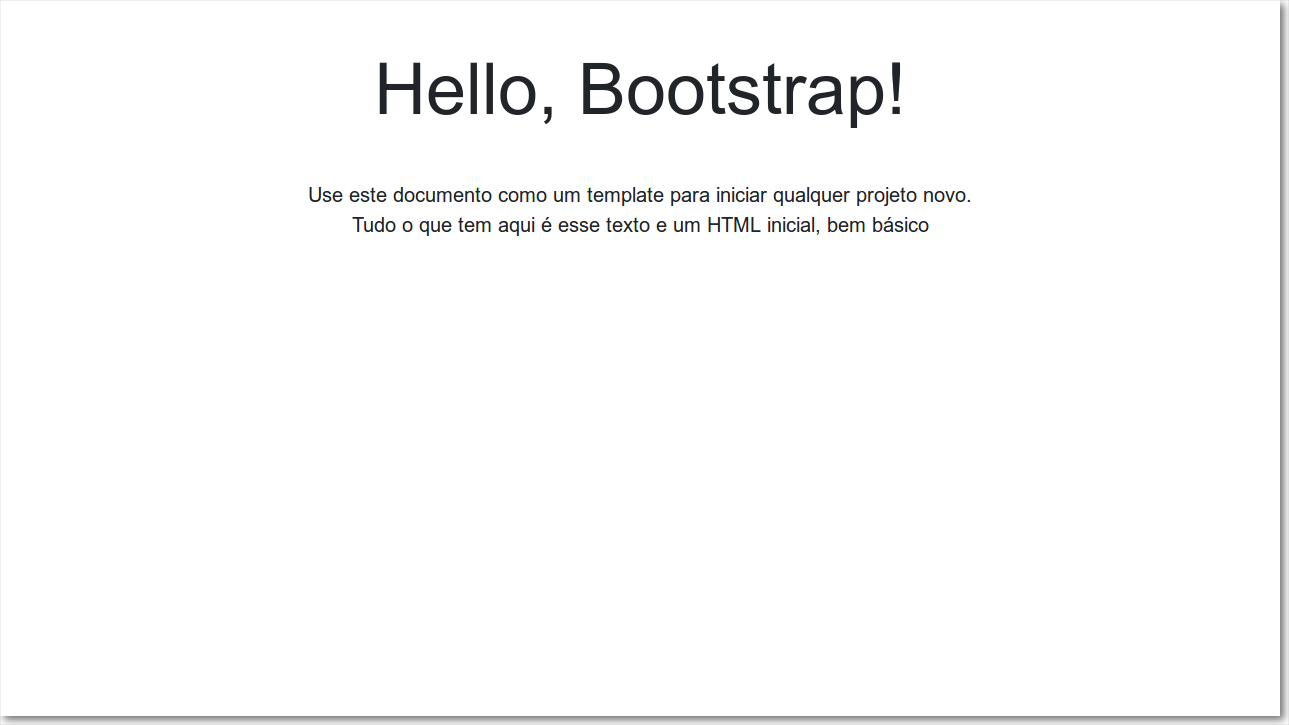 Hello World com Bootstrap