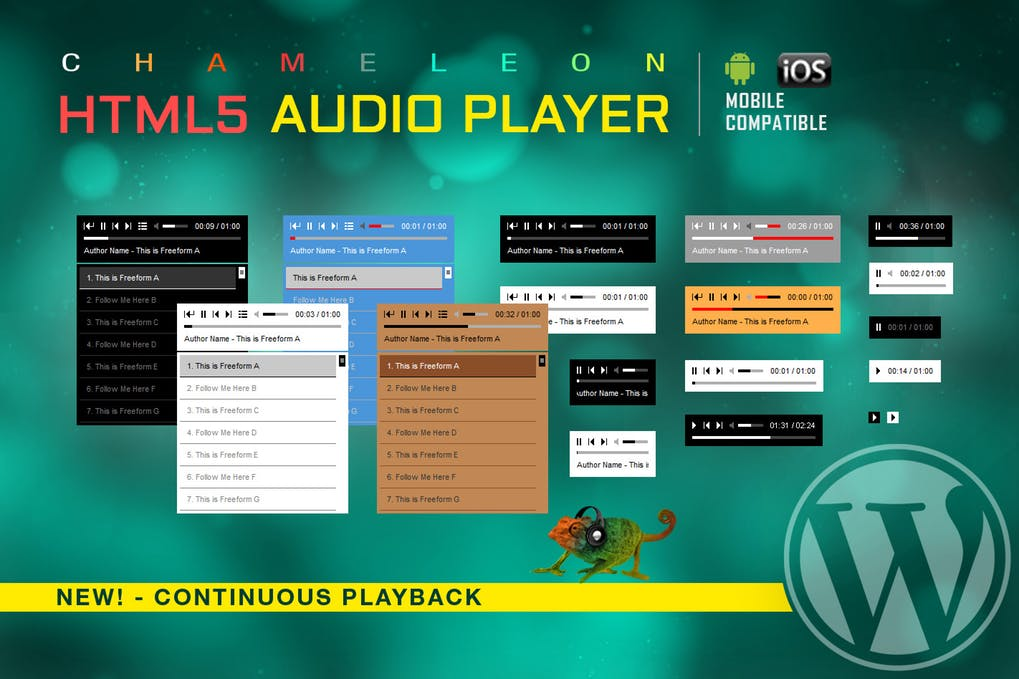 Download HTML5 Audio Player WordPress Plugin for free