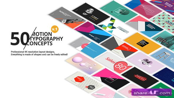 Videohive 50 Motion Typography Concepts