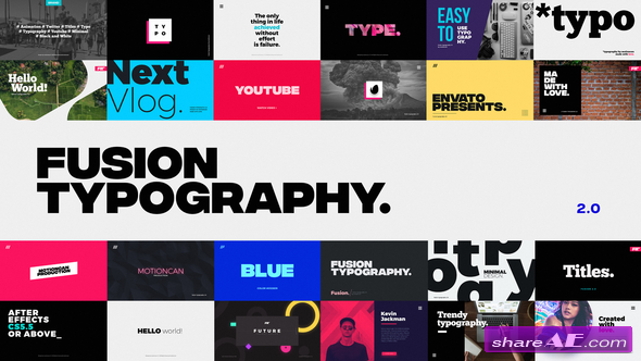 Animated Typography After Effects Templates