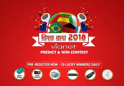 Vianet Bishwa Cup 2018 Predict and Win Contest