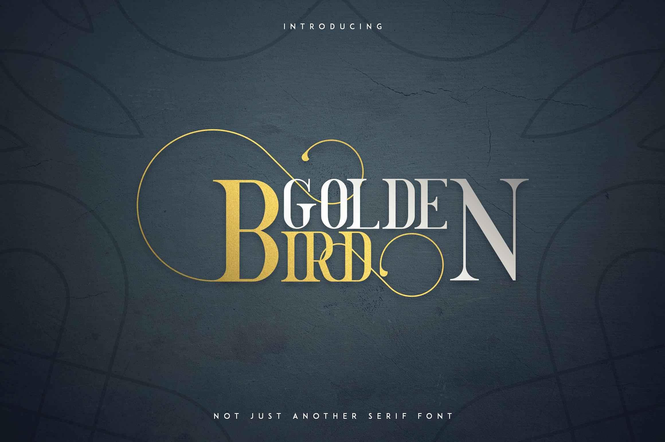 Golden Bird Serif font + Cool Extras