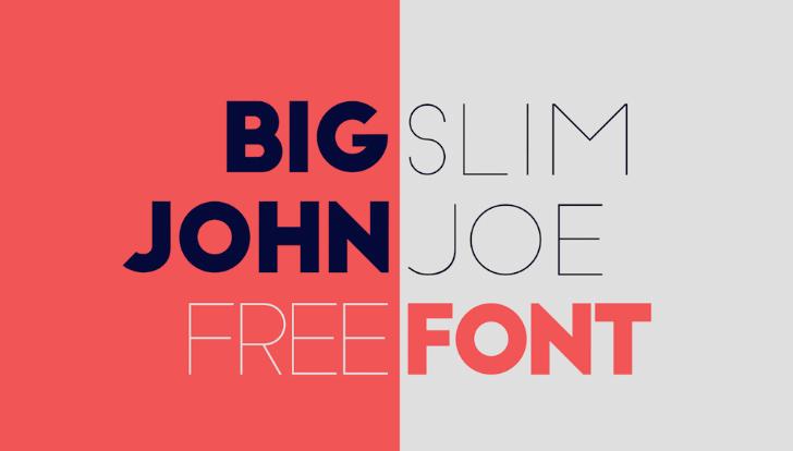 Big John / Slim Joe Font