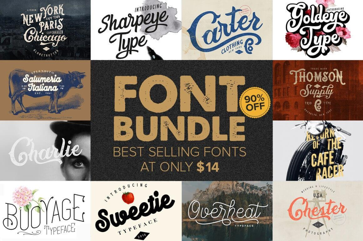 10+ Best-Selling Premium Fonts