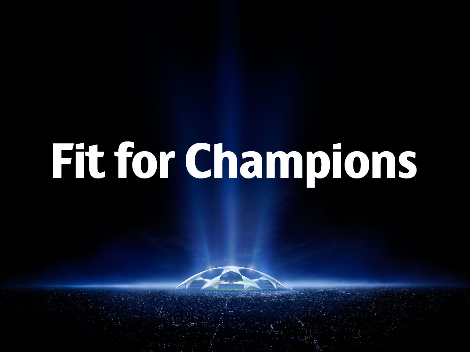 Custom Typeface of UEFA Champions League