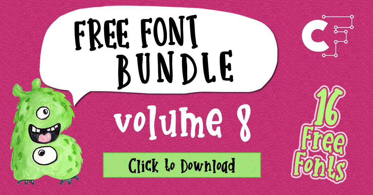 Free Font Bundle Vol. 8 – 16 Premium Font Collection