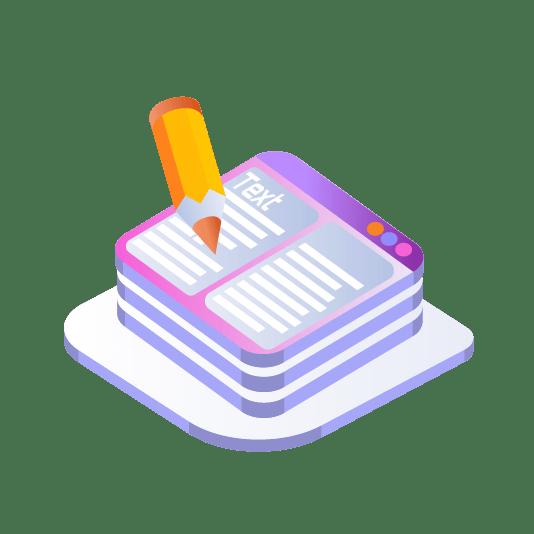 אייקון - כתיבת תוכן