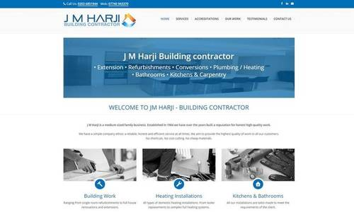 Construction Website Design Examples - Webfactory