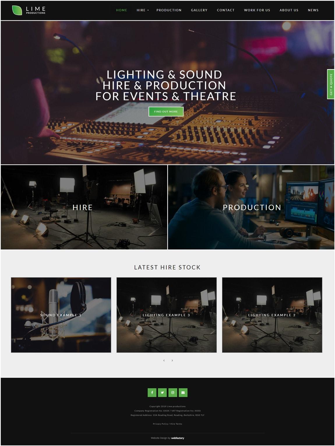 Film Website Design Examples - Webfactory
