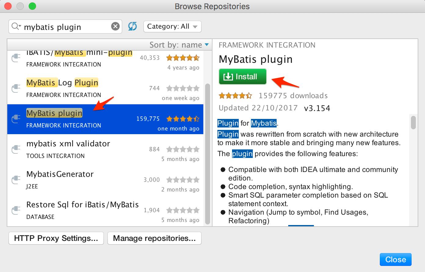 install mybatis plugin