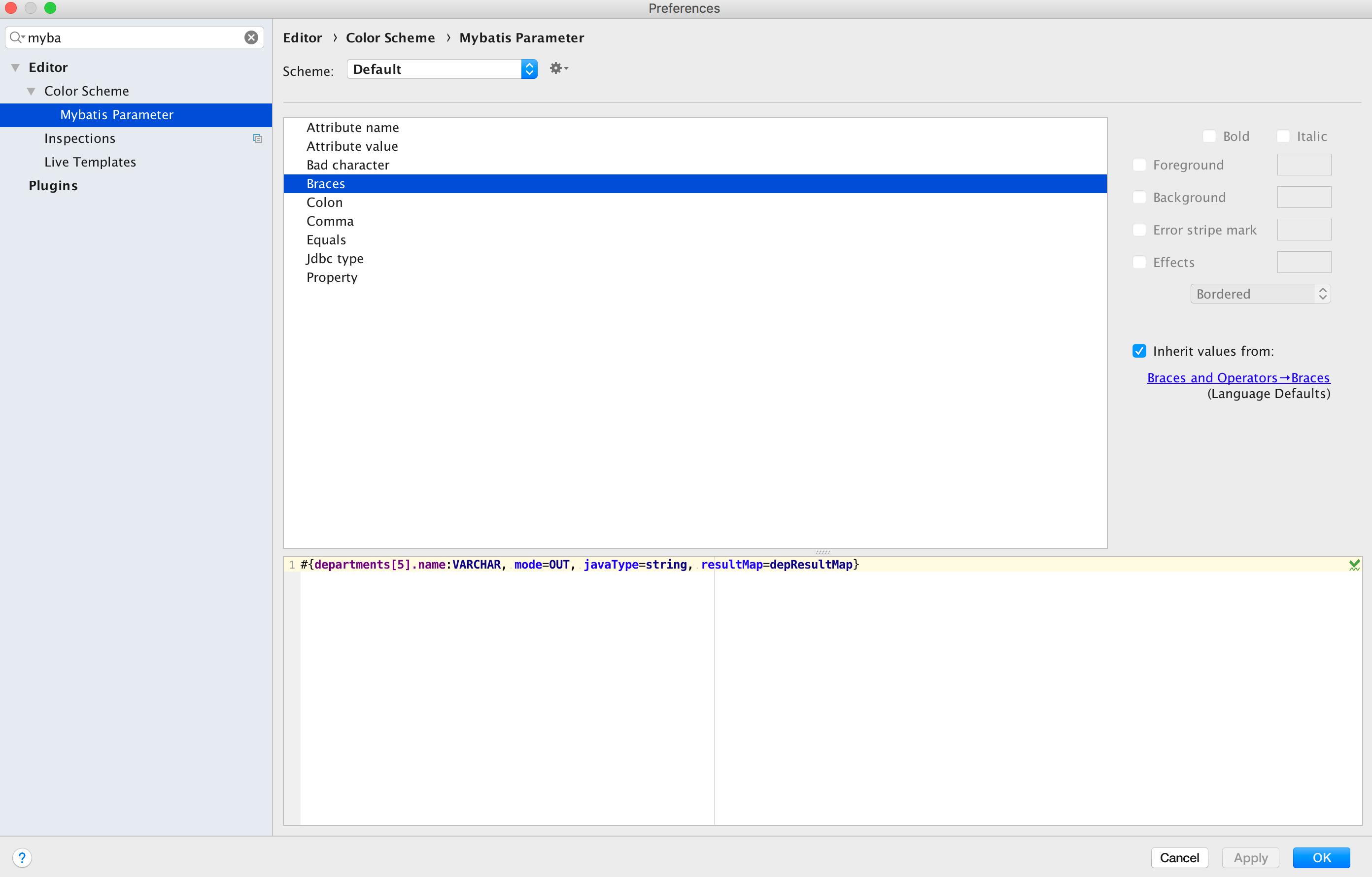 custom language color schema