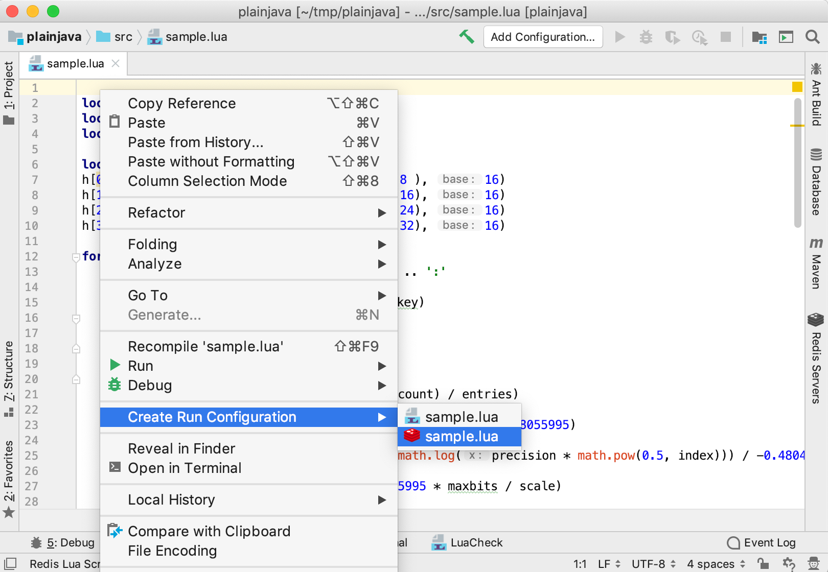 create run configuration2