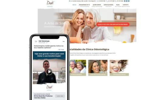 Imagem do site do case Dalí Odontologia