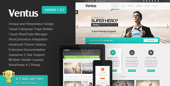 Ventus Business WordPress Theme