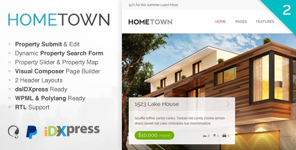 Home Town - Best Real Estate WordPress Themes