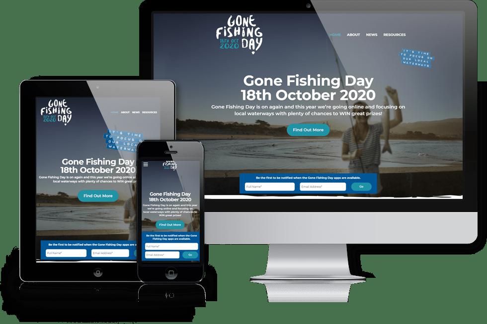 Gone Fishing Day webiste screenshot