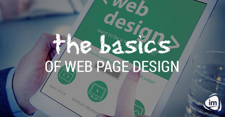 The basics of web page design