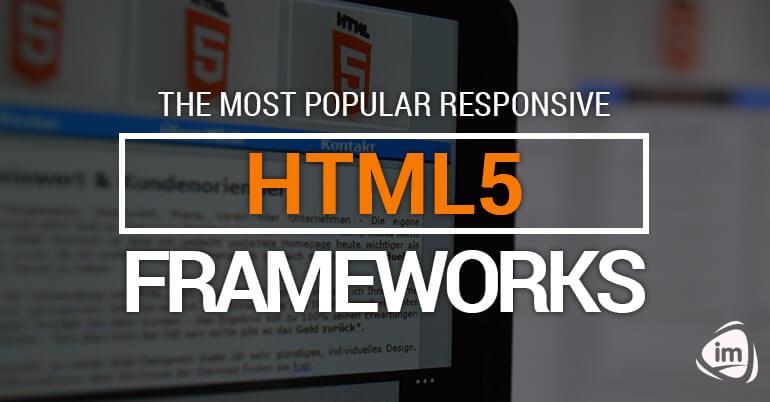 The most popular responsive html5 frameworks