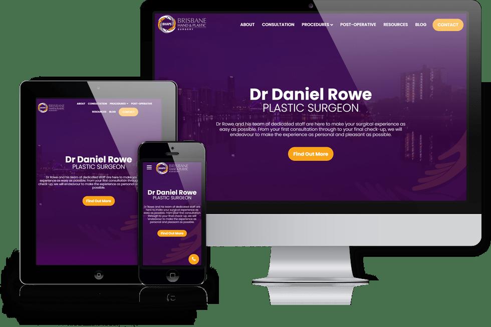 Dr Daniel Row webiste screenshot
