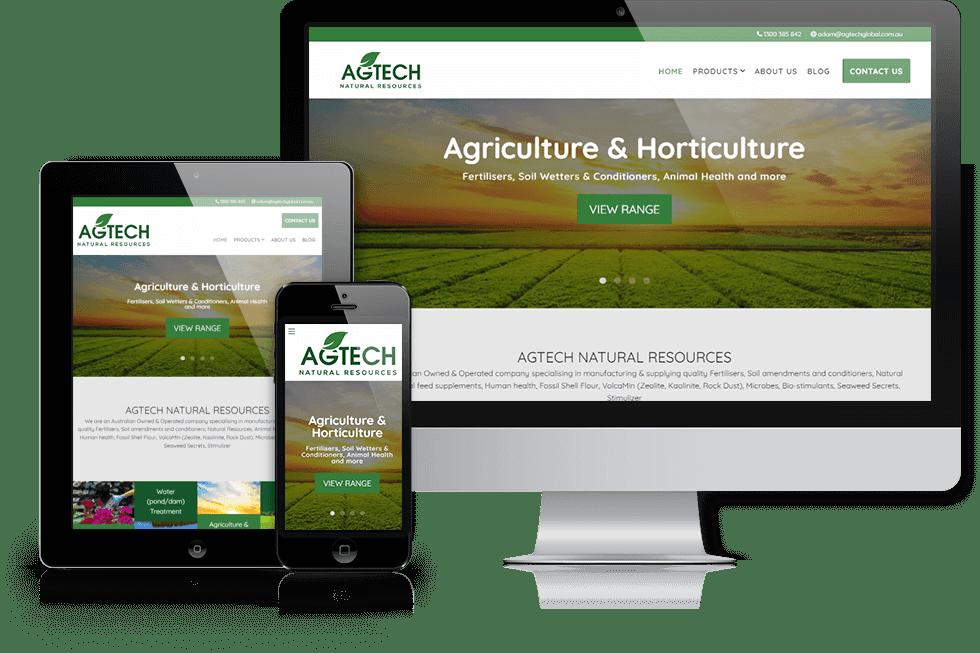 Agtech Natural Resources webiste screenshot